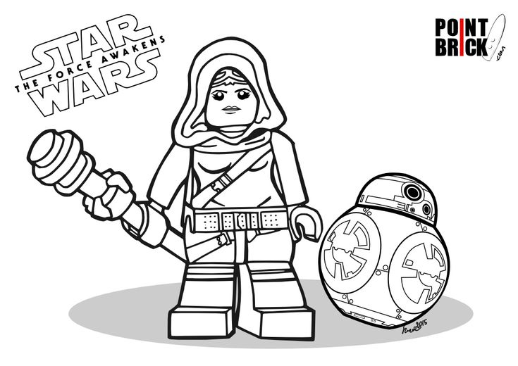 Disegni Da Colorare LEGO Star Wars The Force Awakens