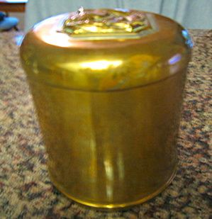 Vintage SMA bronze humidor for sale at More Than McCoy on TIAS
