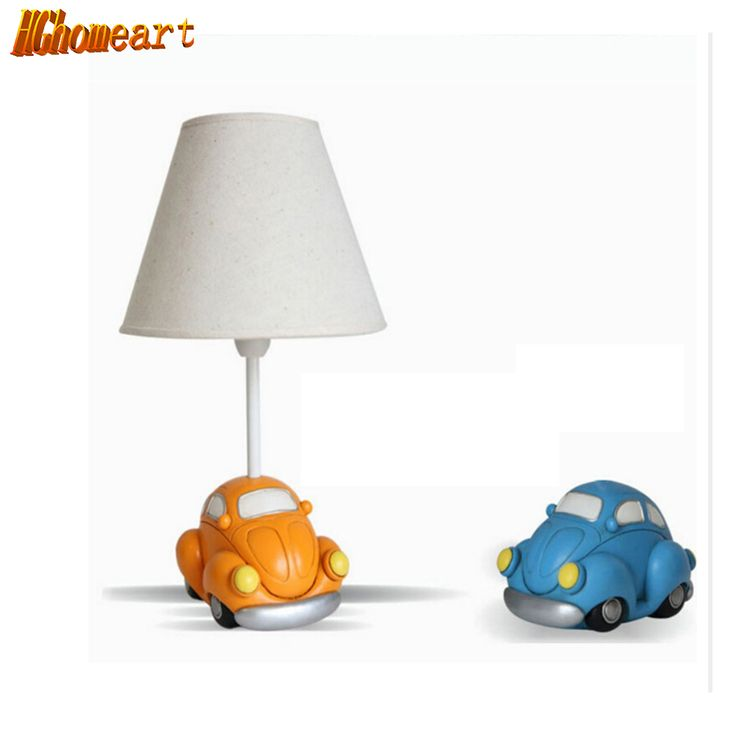 Hghomeart High Quality Car Model Kids Desk Lamp Led E14 Lamp 110V-220V Contemporary Table Lamps Switch Button Reading Bed Light #Affiliate