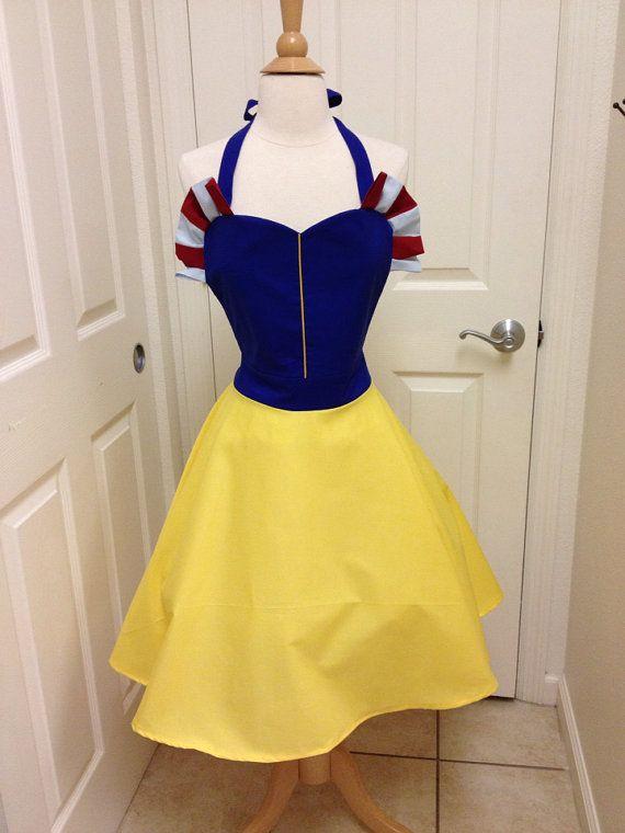 Snow White apron dress by AJsCafe on Etsy