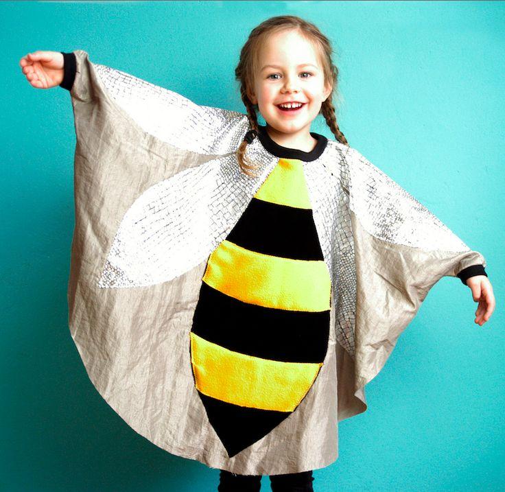 Video-Kurs für Kinderkostüme in Cape-Form für Bienen, Schmetterlinge oder Marienkäfer via Makerist.de