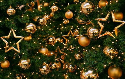 Gold is also a traditional colour used at Christmas. It is associated with the star and presents in the Bible. It is a warm colour.