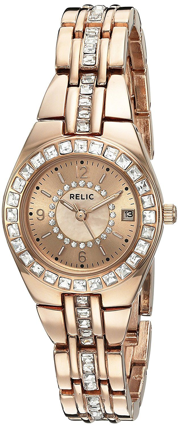 Relic Women's ZR12163 Queen's Court Rose Gold Watch ** Be sure to check out this awesome watch.