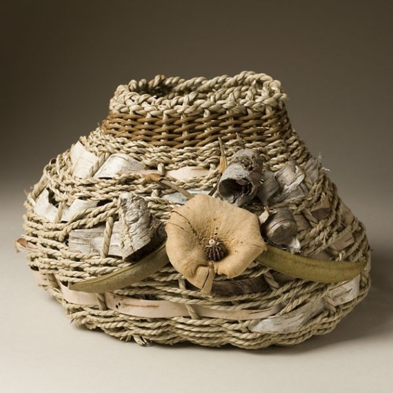 Basket Weaving Qld : Basket of contemporary rustic style with by
