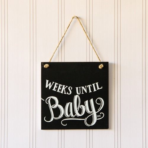 Baby Countdown Chalkboard