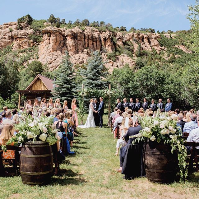 Red Cliff Ranch Made For A Perfect Backdrop Sara Charley S Wedding See More From Their Day Along With Of Our Favorites On