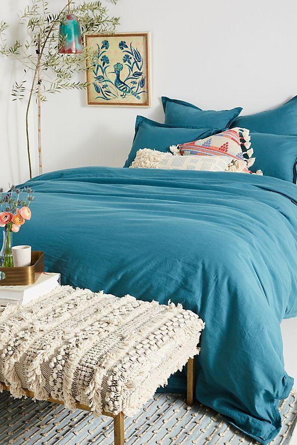Relaxed Cotton Linen Duvet Cover Bed Linens Luxury Linen Duvet Covers Linen Duvet