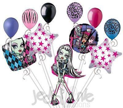 11 pc Monster High Frankiestein Happy Birthday Balloon Bouquet Party Decoration