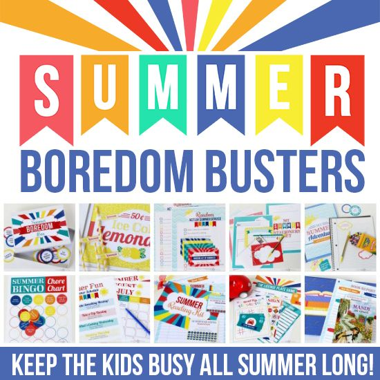 Summer Boredom Busters from The Dating Divas- great for a rainy day to keep your kids busy! Repined by @CSHC #printable #boredombuster
