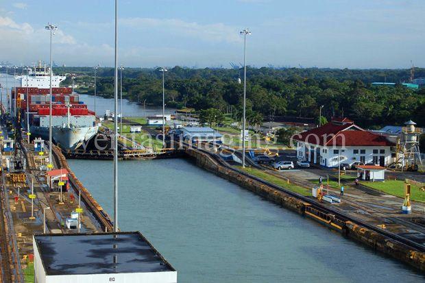 #Panama Canal, Gatun Locks #travelphotos #stockphotography