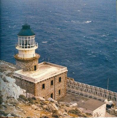 Lighthouse in Skyros Island Greece