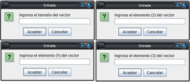 Programa en JAVA que llena un vector