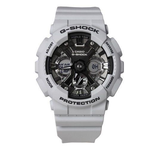 Casio G-Shock White Resin Digital Analog Sports Watch GMA-S120MF-2ACR  | eBay