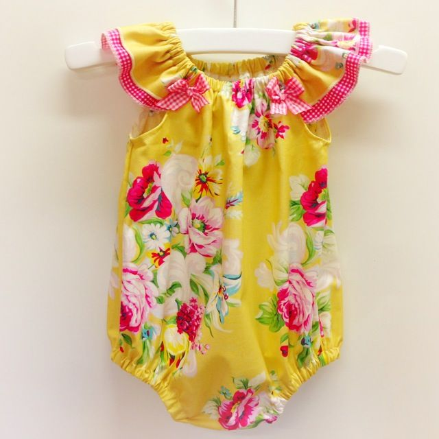 Circa Romper | Flutter Sleeves | Baby Girl Pattern: Fresh Designs & Patterns
