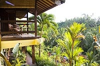 Bali Spirit Hotel and Spa, Ubud - Another beautiful place to stay in the mountains of Bali.  Several activities offered nearby including rafting trips, mountain biking, hiking and elephant trekking.