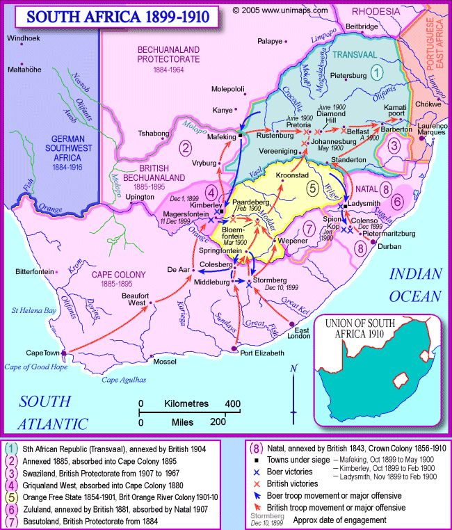 This Day in History: Oct 11, 1899: Boer War begins in South Africa dingeengoete.blogspot.com http://unimaps.com/sth-africa1899/mainmap.gif