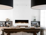 great fireplace #fireplace: Modern Fireplaces, Idea, Fireplaces Design, Fireplaces Built In, Interiors Design, Gas Fireplaces, Nicole Holly, Contemporary Living Rooms, Living Rooms Fireplaces