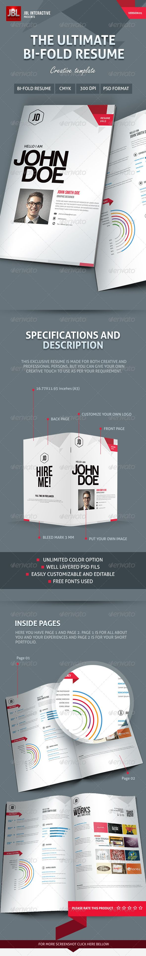Bi Fold Creative Resume 106 best cv design
