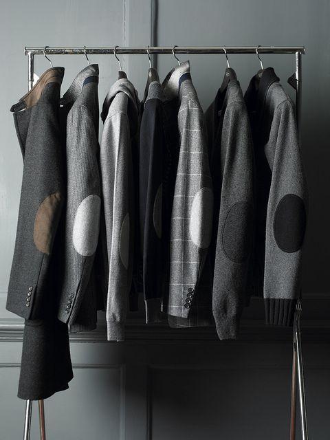 ♂ Masculine  elegance Men's fashion wear grey Elbow Patches. Back to Elbow Pads - Hackett Designer Menswear