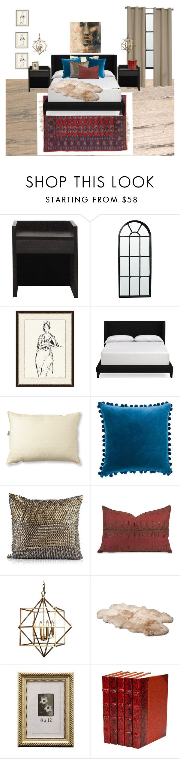 """""""Final Draft Guest"""" by erin-bodie on Polyvore featuring interior, interiors, interior design, home, home decor, interior decorating, XVL, Noir, Pottery Barn and Williams-Sonoma"""