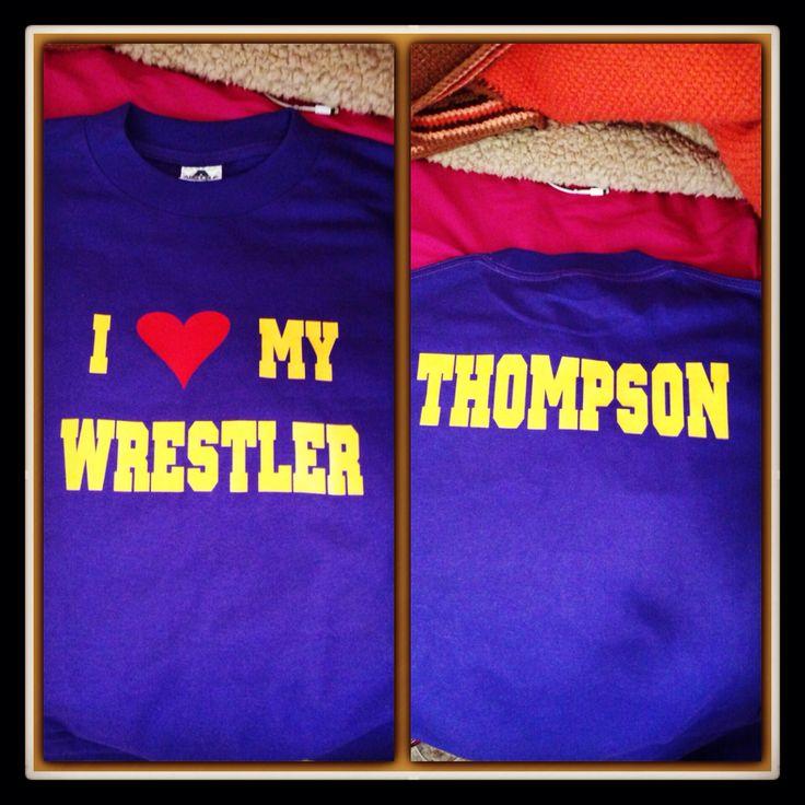 My new wrestler's girlfriend shirt! Purple and gold!