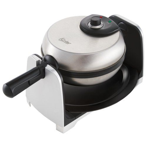 Oster CKSTWFBF21 1-1/2-Inch Thick Belgian Flip Waffle Maker, Brushed Stainless Steel