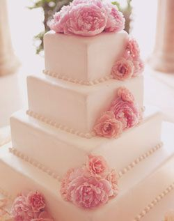 The 15 best images about wedding cakes on pinterest flower weddingchannel galleries square white cake with pink flowers fairytale wedding mightylinksfo