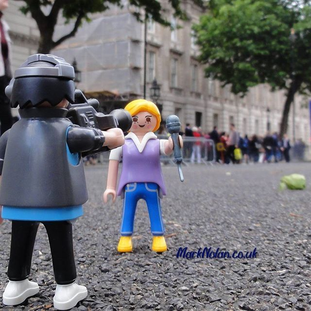 Following a shock #election result for some we've come to #London to get the latest #news #headlines  #playmobil