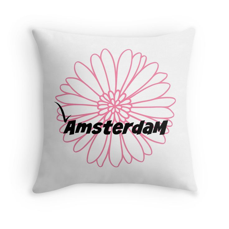 Nice pads designed by Brigitte B. Would you buy this pillow? Look here: https://www.redbubble.com/people/bbrigitte/works/23534214-amsterdam-with-pink-flower?p=throw-pillow&ref=artist_shop_grid