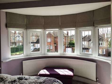 25 best ideas about bay window blinds on pinterest bay for Roman shades for bay windows