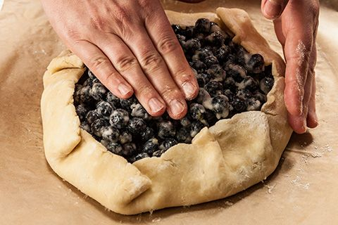 Rustic Blueberry Tart  Recipe - made this yesterday and it was delicious!