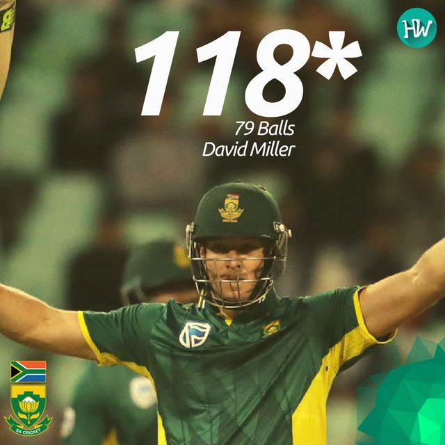 David Miller pulled off the innings of his life and helped South Africa chase down a massive 371! #SAvAUS #SA #AUS #cricket