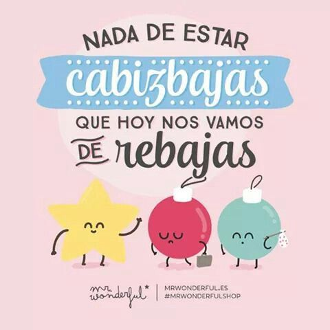 Rebajas! Mr. Wonderful