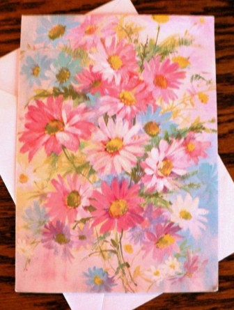vintage cards  HAPPY ANNIVERSARY Floral by DearNellieStationery, $7.00