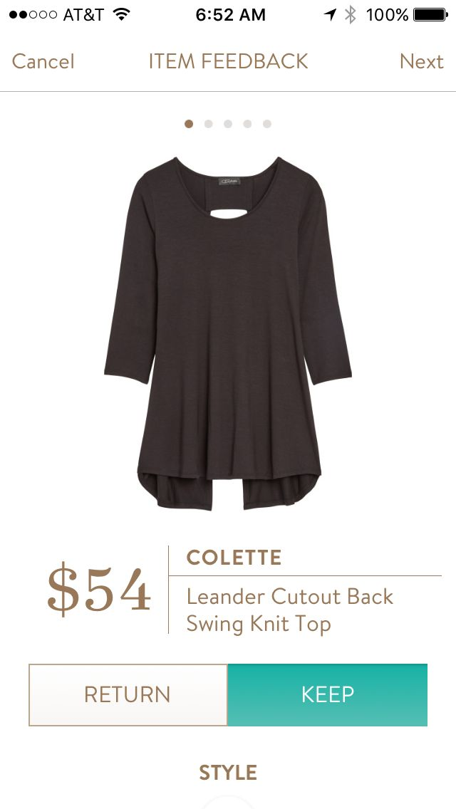 Stitch Fix - Colette Leander Cutout Back Swing Top. Stitch Fix has some great options for late summer and fall! Want to try Stitch Fix? Sign up here....https://www.stitchfix.com/referral/5198264