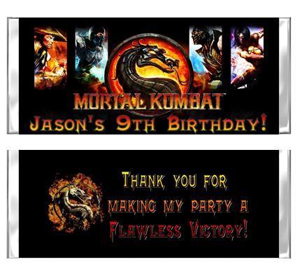 Mortal Kombat Party favors