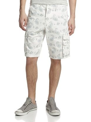 55% OFF Waimea Men's Paisley On Rip Stop Shorts (White)