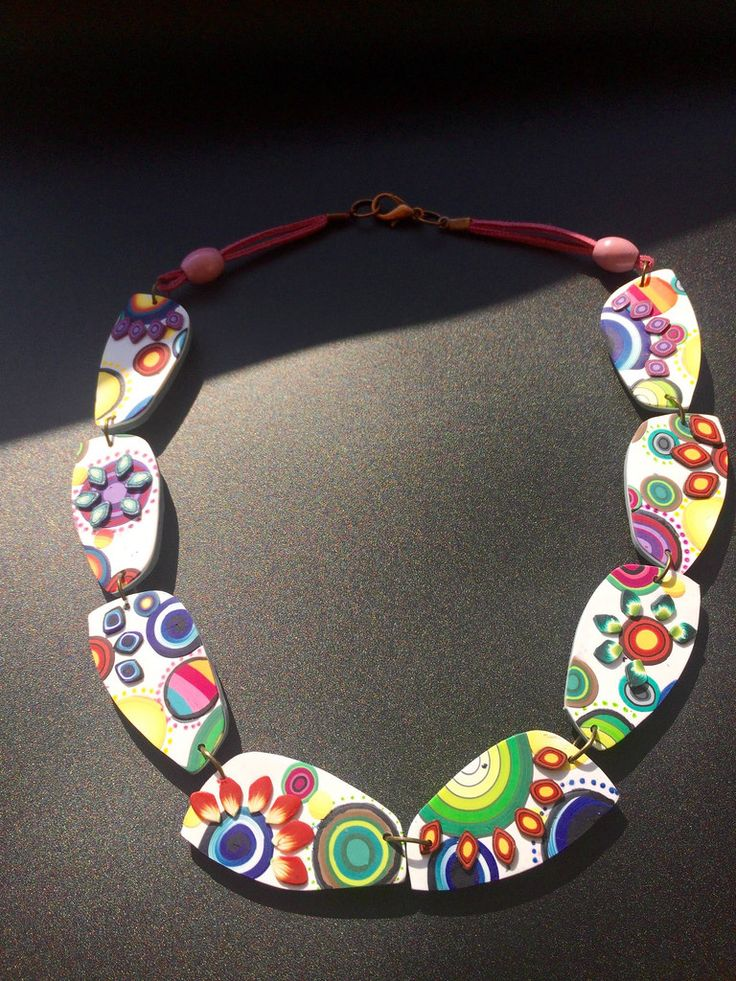 leftovers - polymer clay necklace by Mabcrea Art