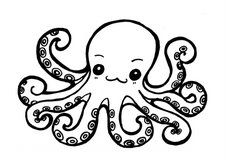 14 Best Octopus Coloring Pages Images On Pinterest