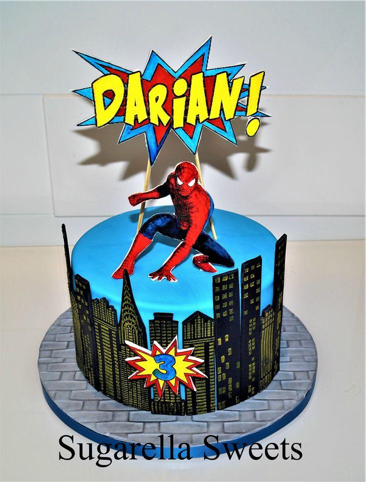 Spiderman Cake Made By Liliana Da Silva From Sugarella Sweetss