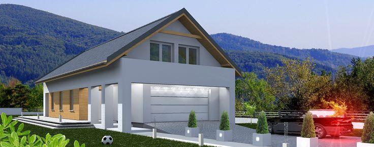 Projekt domu z poddaszem użytkowym Atlanta.
