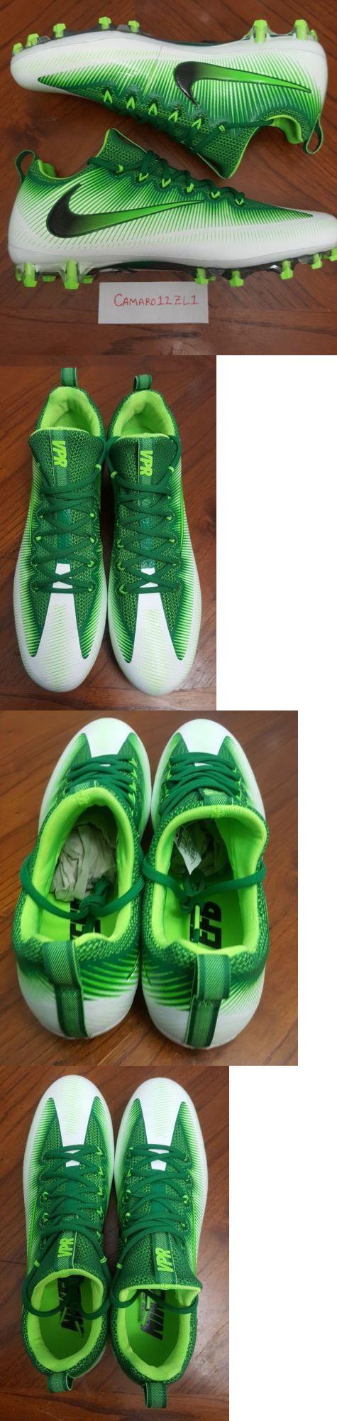 Men 159116: Nike Vapor Untouchable Pro Football Cleats Mens Sz 13 Green White 833385-301 -> BUY IT NOW ONLY: $40 on eBay!