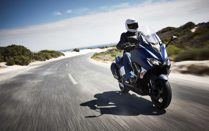 Lataa kuva Yamaha TMAX DX, 2017, 4k, skootteri, Japanilaiset moottoripyörät, Yamaha