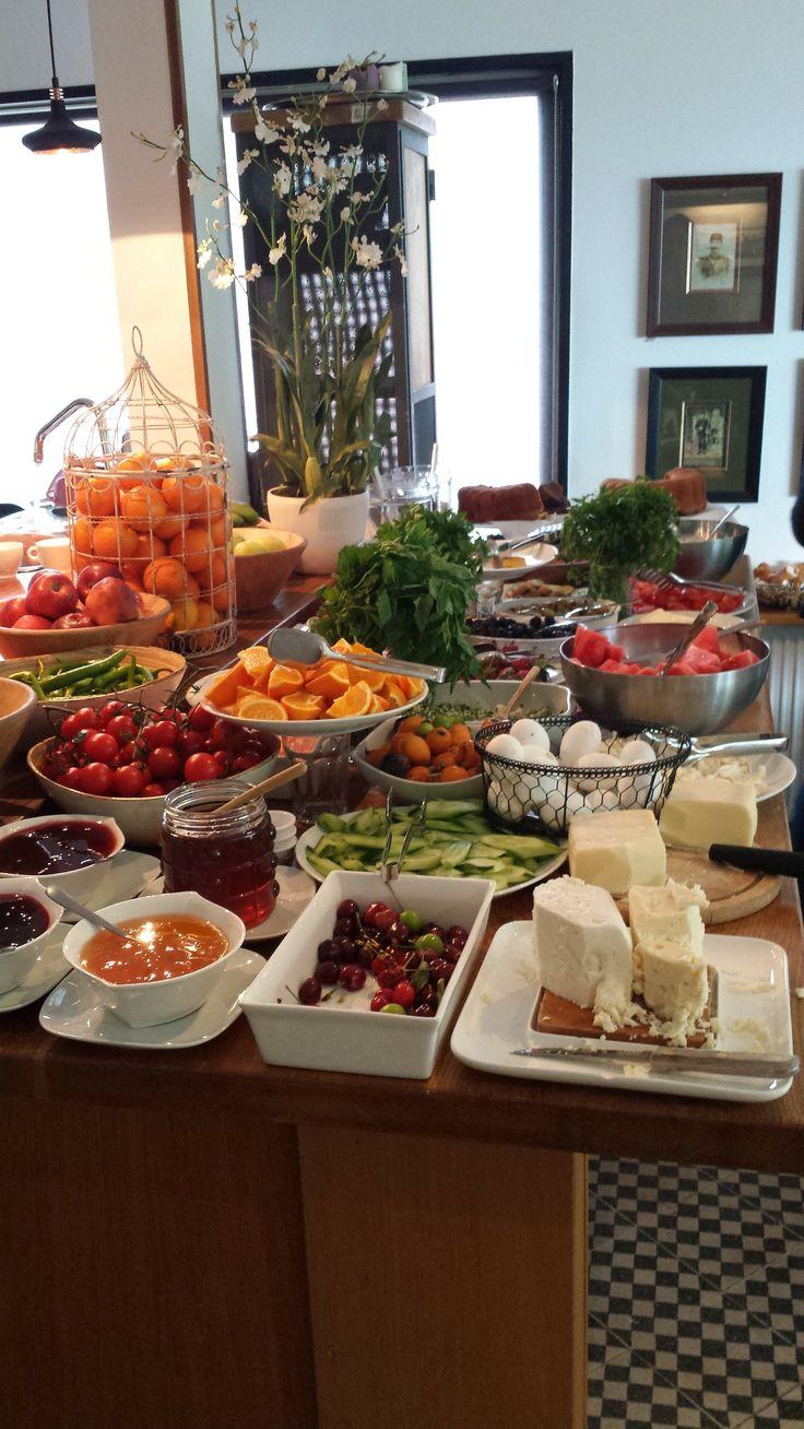 Het ontbijtbuffet: heerlijk!