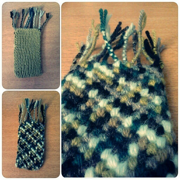 knotted and knitted phone case