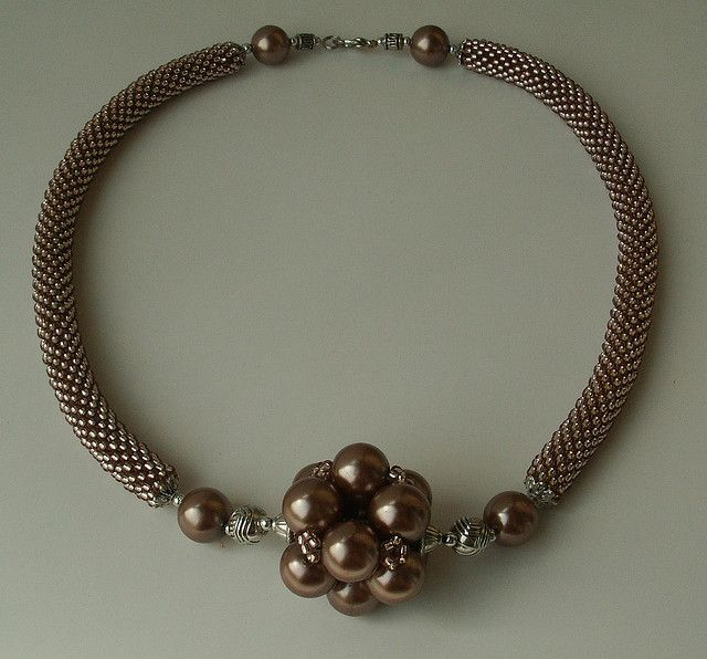 'Brown Pearl' Bead Crochet Rope with Bead | Flickr - Photo Sharing!