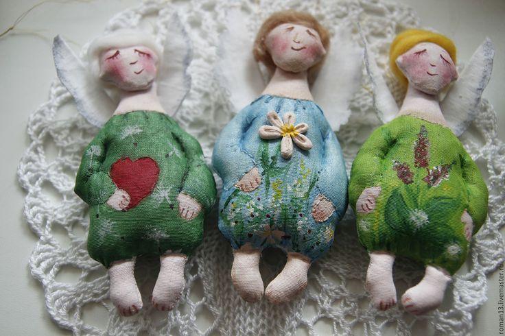Купить Ангелы-хранители 2 шт. - комбинированный, ангелы-хранители, елочное украшение, купить ангела