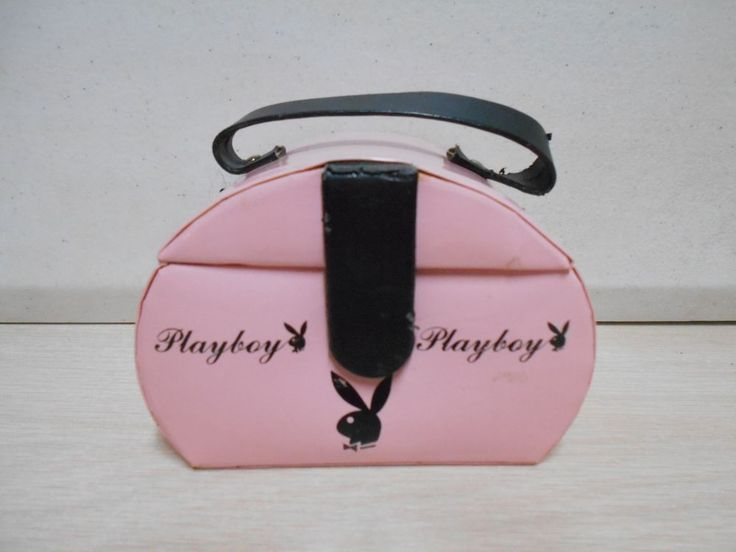Single Compartment Pink Playboy Jewelry Box W/Playboy Bunny Icon Travel Box #Playboy