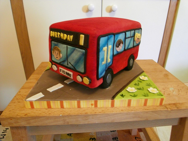 Red Bus Cake by Baking and Decorating, via Flickr