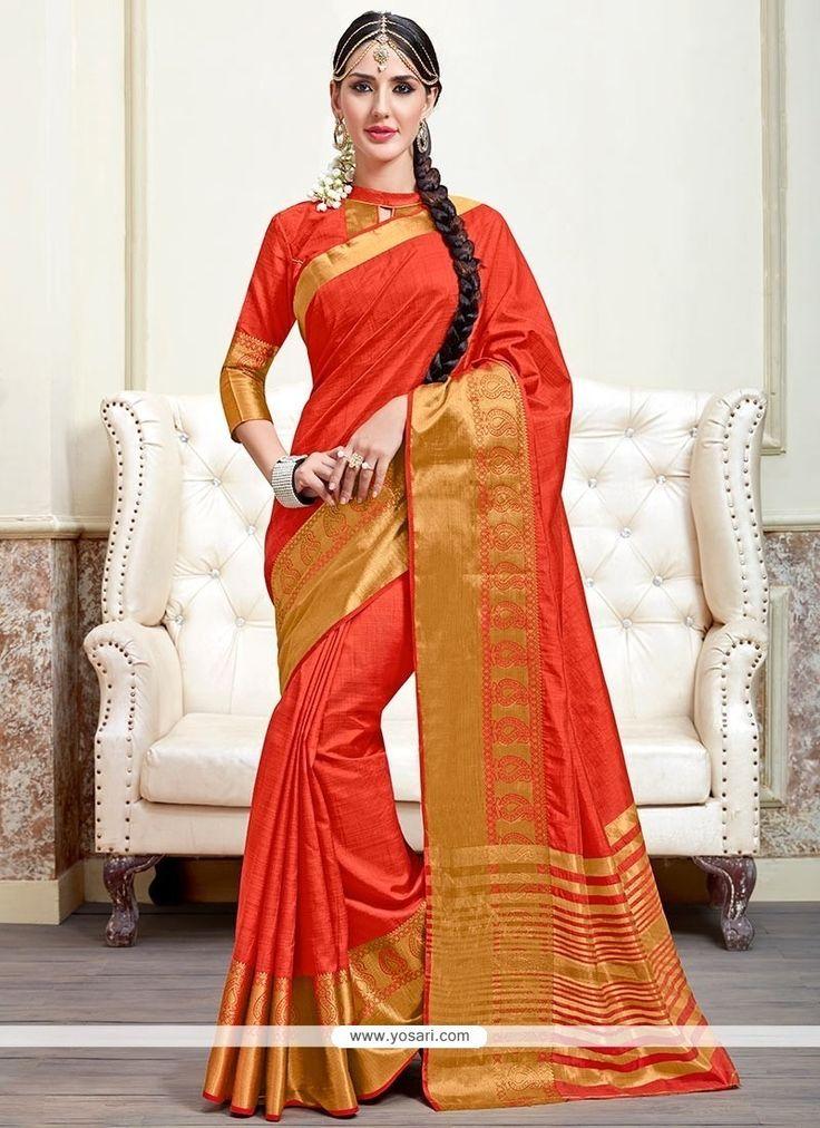 Piquant Orange Traditional  Saree Model: YOSAR8417